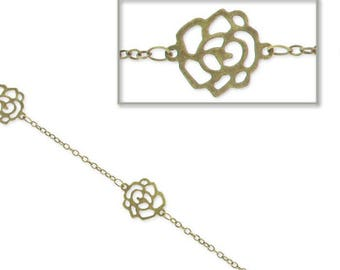 Chain metal flower bronzes of 1.8 mm - 1 meter