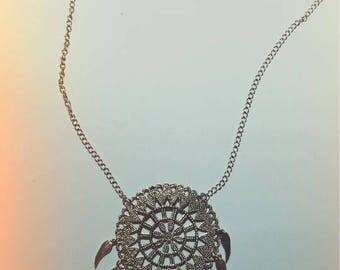 Nightmare catcher necklace necklace black tassels