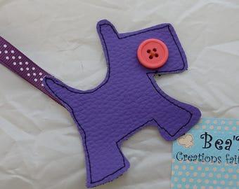 fox terrier key holder