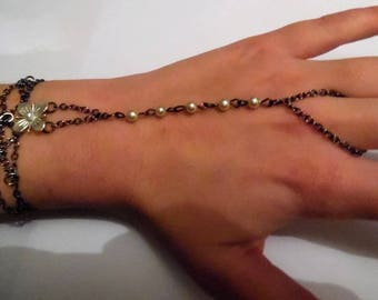 Bracelet ring chain and beads