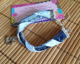 Bracelet Bohemian spirit of denim and liberty