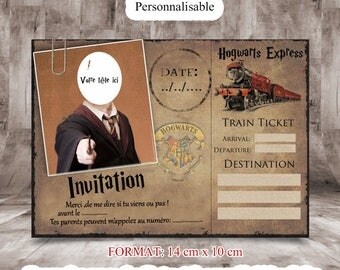 Harry potter wedding invitation   Etsy
