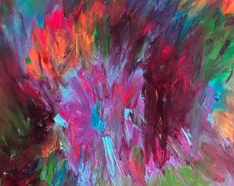 """Abstract Original Oil Painting size 12X16"""" on canvas"""