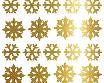 24 snowflakes stickers, Christmas sticker