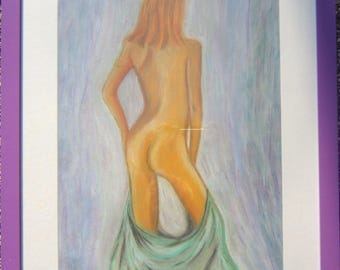 nude woman in pastel
