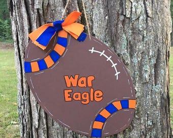 Auburn Football Door Hanger