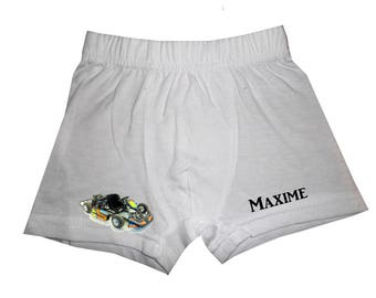 pants white boy Kart personalized with name