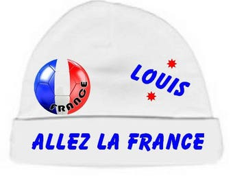Beanie Baby white go france customized with name