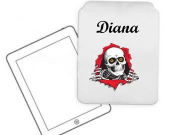 Cover for tablet pc skull personalized with name