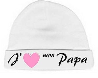 Beanie Baby white message I love my Daddy