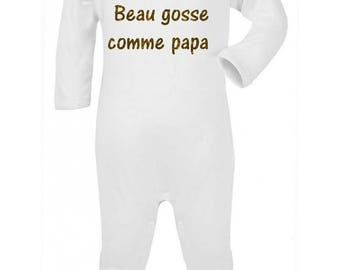 Humor nice kid like Daddy baby pajamas