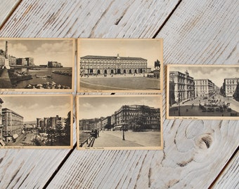 Lot of Vintage Italy Postcards of 30s.Beautiful Napoli postcards of 30s
