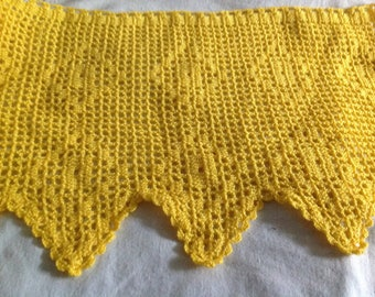 100x28cm yellow color hand crocheted band