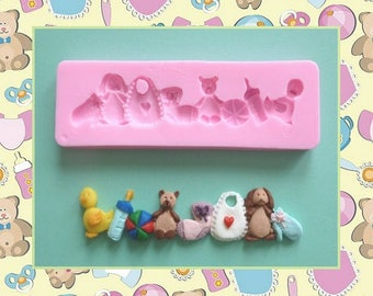 Silicone mold: border business baby