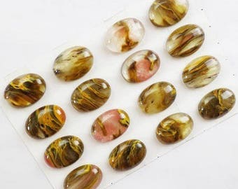 Cherry QUARTZ: 1 25 * 18 mm natural stone cabochon