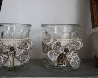 Candles customized with any old jam jars