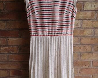 Vintage casual stripe top dress