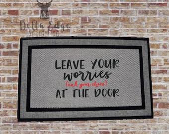 Leave Your Worries - Doormat