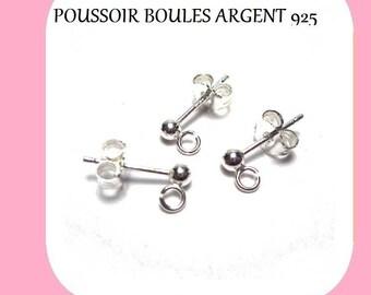 BALLS 3 mm 925 sterling silver Stud EARRINGS
