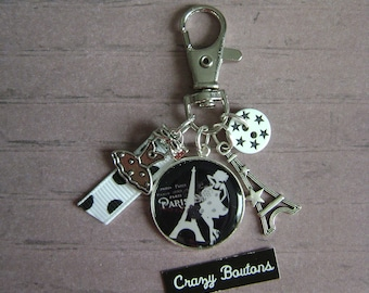 Keychain/bag Paris charm