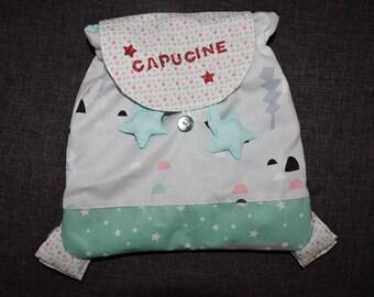 Personalized kindergarten children and babies rucksack