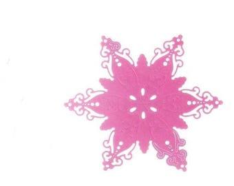 Cut scrapbooking snowflakes