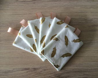 washable wipes in organic tencel
