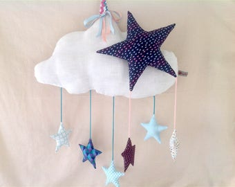 Linen mobile cloud and stars