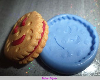 New and Rare! Mini cookie mold smile 3cm front!