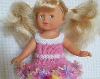 Doll clothes mini corolline, 20 cm doll. Pink ruffled dress