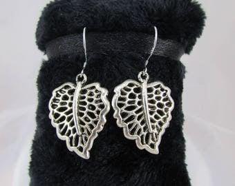 """Earrings """"my little ' tites openwork leaves"""""""