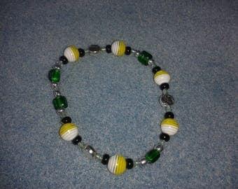 Yellow/green geometric and modern bracelet