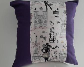 """""""Paris"""" 40x40cm Cushion cover. reasons monuments of Paris"""