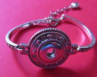silver bracelet for 12mm snap
