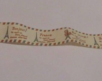50cm Ribbon Paris Tour Effel 20mm Width