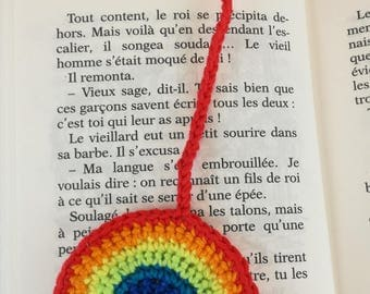 Reading Rainbow crocheted in cotton
