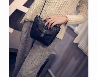 Crossbody Messenger Bag,  Lady DIY Strap Arrow Belt Magnet Button Zipper Shoulder, Woman Bags