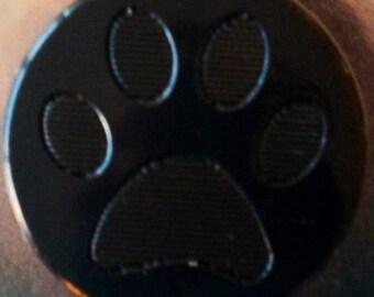 "10 snaps engraved KAM ""Paw"" shiny black"
