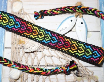 """Atypical Rainbow"" Friendship Bracelet"