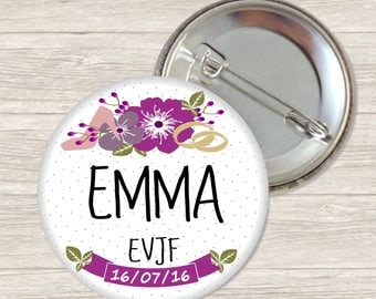 Bachelorette party ring bearer badge / name + date-customizable