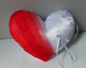 red heart ring bearer pillow