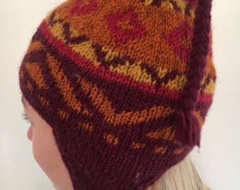Hat with100% pure wool - adult T 54-59 from 8 years of age