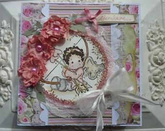 For a baby girl birth congratulation card