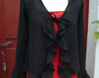 Flamenco ruffled black vest, size 38