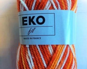 Set of 10 balls of yarn knitting 328 discount EKO thread colors