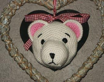 trophy bear crochet teddy bear
