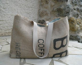 Carry bag // Beach bag // Burlap // Coffee bag // Recycled // gifts for her