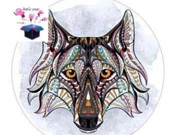 1 cabochon clear 20mm animal theme