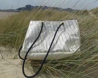 Mini Transat recycled sail bag