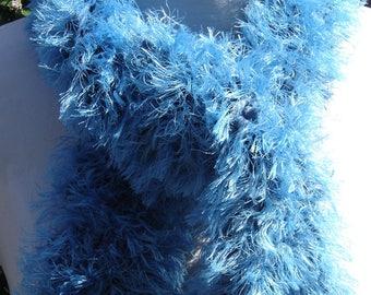"""scarf """"hairy"""" fancy blue (oil)"""